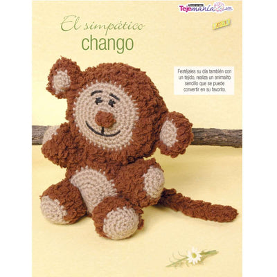 Patrón digital, Amigurumi, Simpático Chango Estambre Kinder