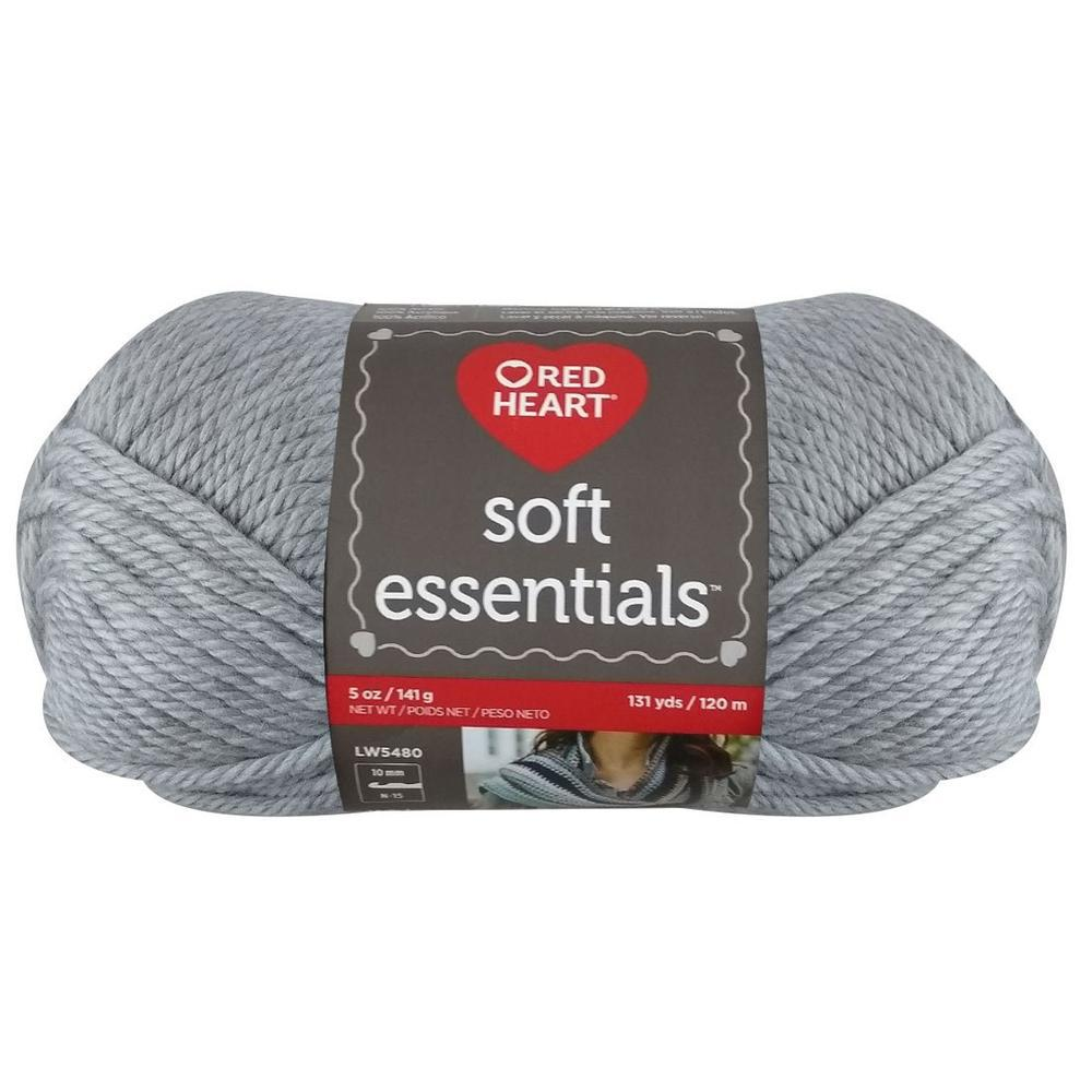 Estambre Soft Essentials Liso, Madeja Marca Red Heart de 141g con 120m