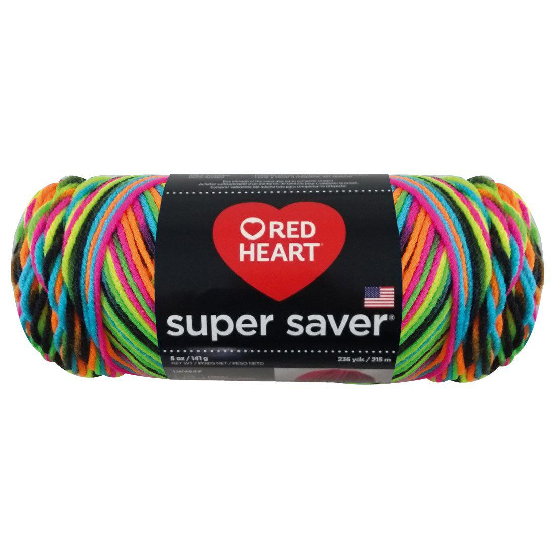 Estambre Super Saver Matizados y Aran, Marca Red Heart, Madeja de 141g