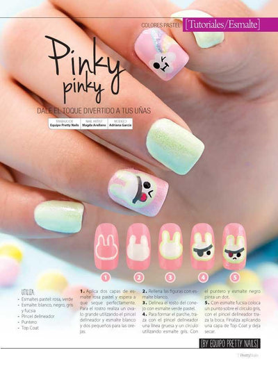 Pretty Nails 16 - Nail Art Pastel - Formato Digital - ToukanMango