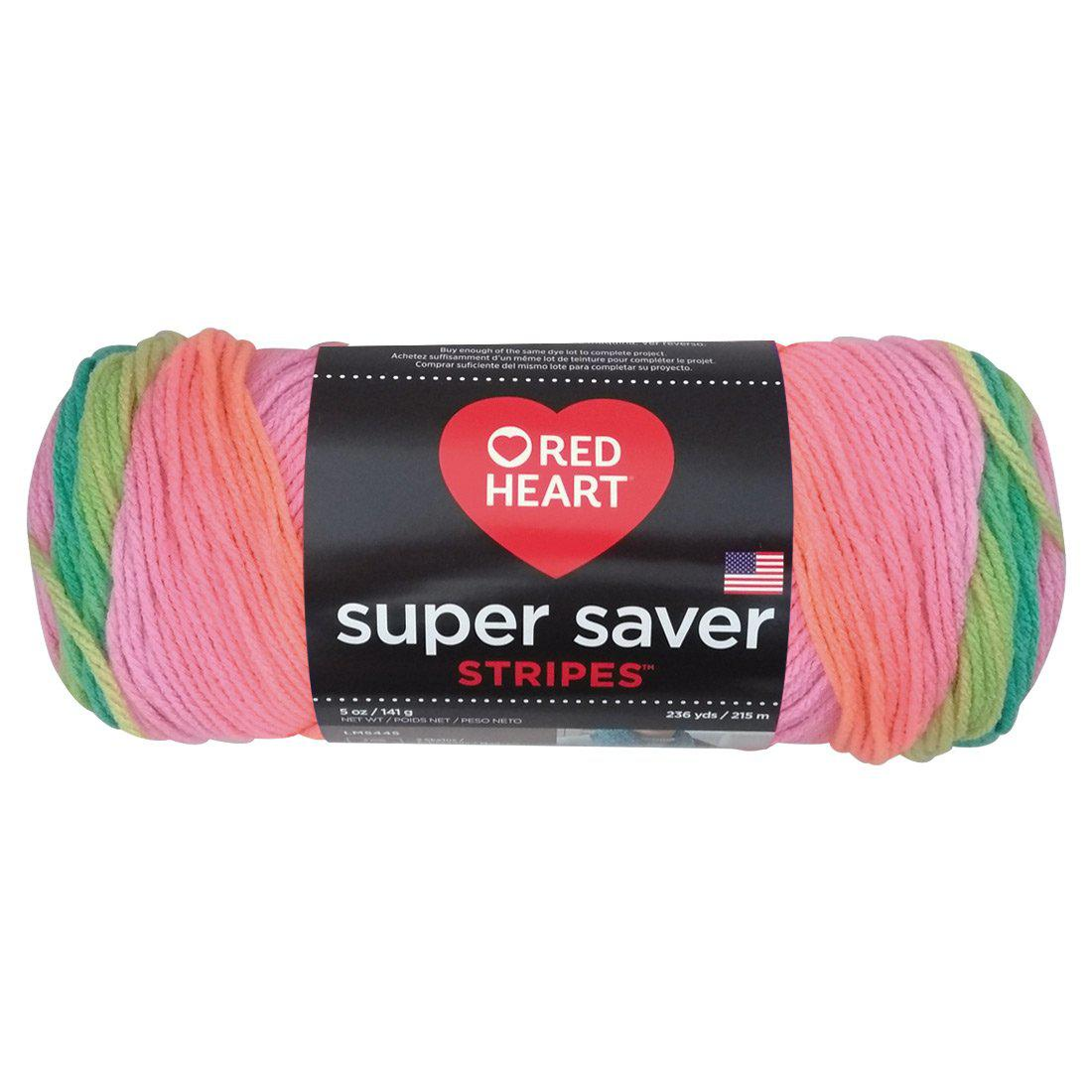 Estambre Super Saver Stripes, Mrca Red Heart, Madeja de 141