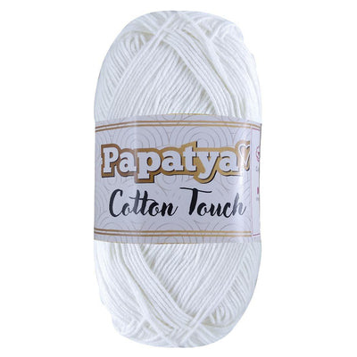 Hilaza Papatya Cotton Touch, Marca Sweet Crochet, Madeja con 100g