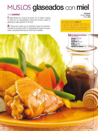 Vivir y Comer con Diabetes 09 - Todo con Pollo Saludable y Delicioso - Formato Digital