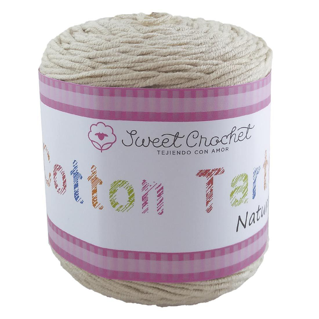 Estambre Cotton Tarta, Marca Sweet Crochet, Madeja con 100gr