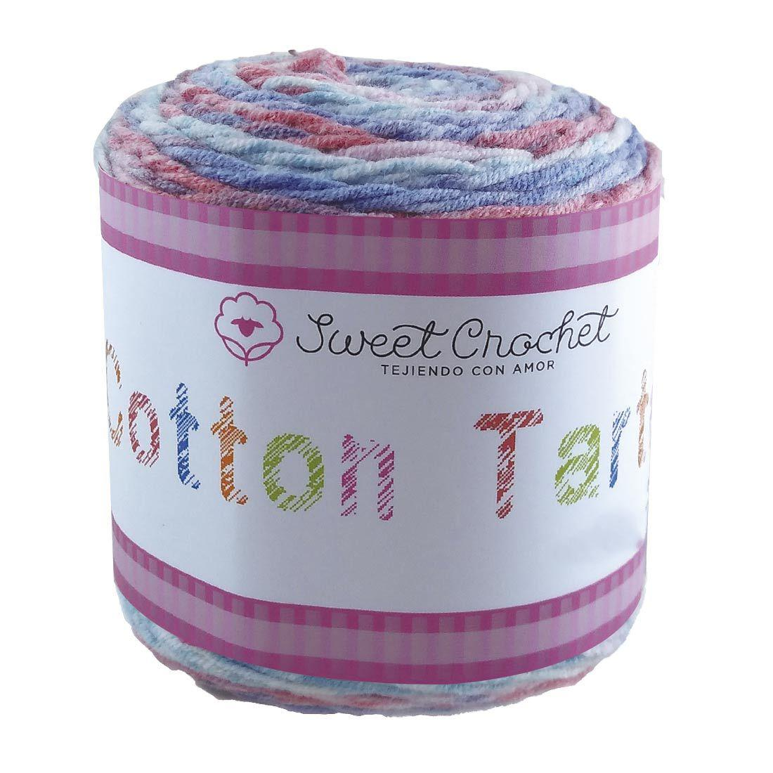 Estambre Cotton Tarta Degradado, Marca Sweet Crochet, Madeja con 100gr