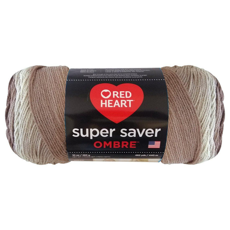 Estambre Super Saver Ombré, Marca Red Heart, Madeja con 283g con 440m