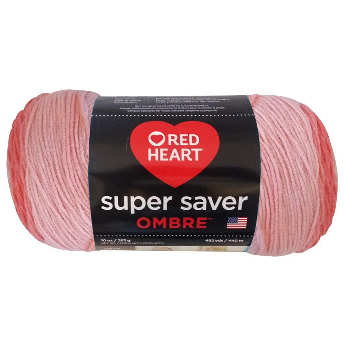 Estambre Super Saver Ombré, Marca Red Heart, Madeja con 283 gr