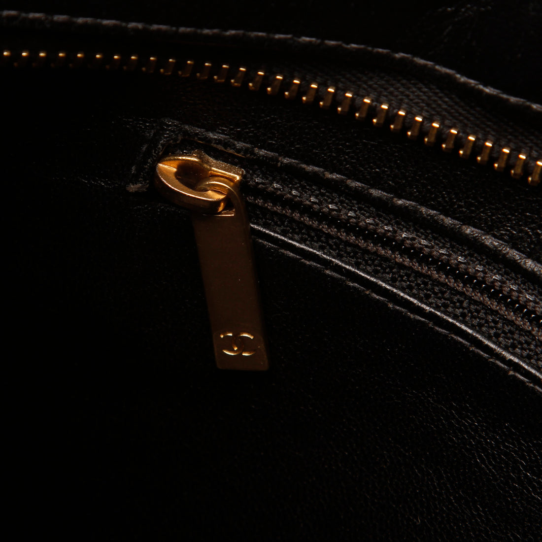 Chanel CC Quilted Cotton Tote Bag with Chain Straps