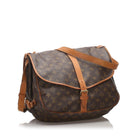 Louis Vuitton Vintage 1993 Monogram Saumur 35 Double Satchel Bag