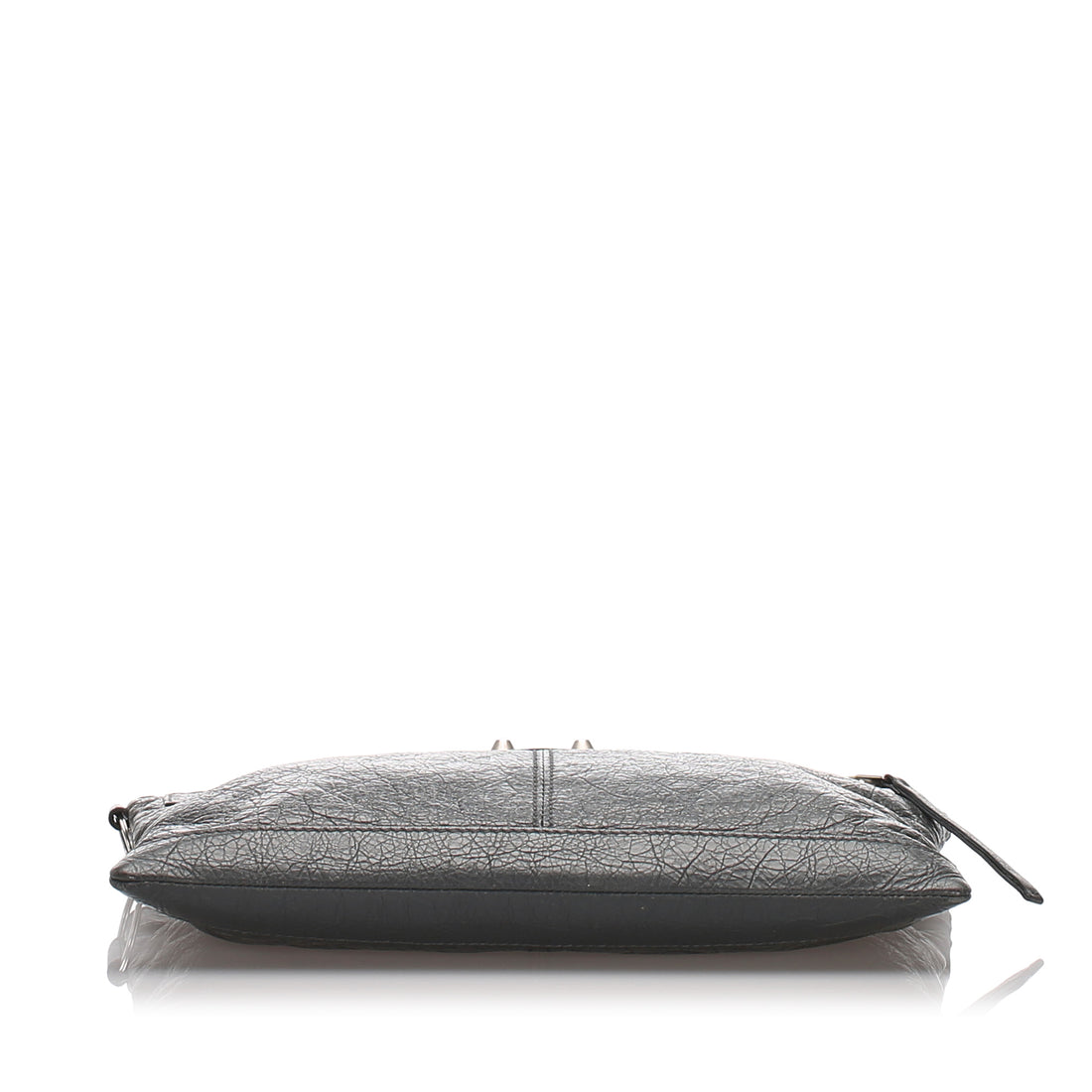Balenciaga Grey Clip Moto Medium Agneau Clutch Bag