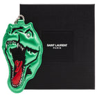 Saint Laurent Paris Green T-Rex Dino Leather Keychain