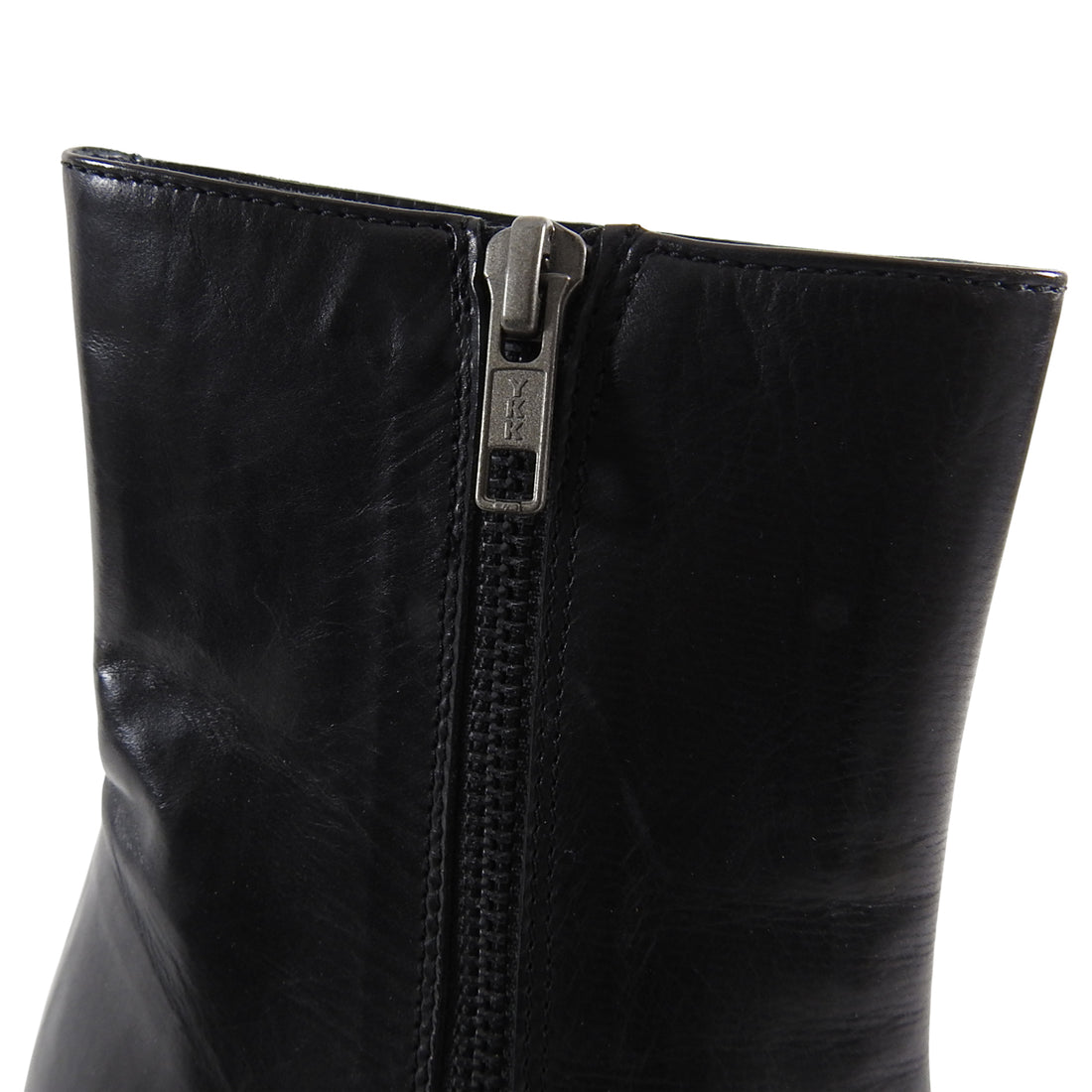 Ann Demeulemeester Black and Silver Wedge Ankle Boots - 39.5