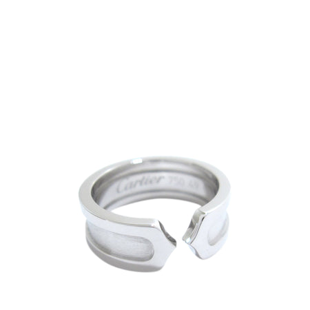 Cartier C de Cartier 18k White Gold Band Ring - 4-¾ / 49