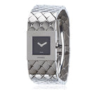 Chanel Vintage 1993 Silver Matelasse Quilt Acier Ladies Wrist Watch