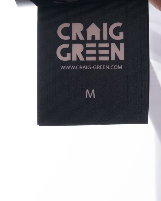 Craig Green Spring 2017 Backless White Dress Shirt with Laces - M