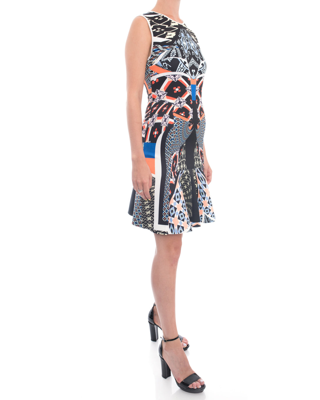 Clover Canyon Neoprene Multi Colour Dress - S