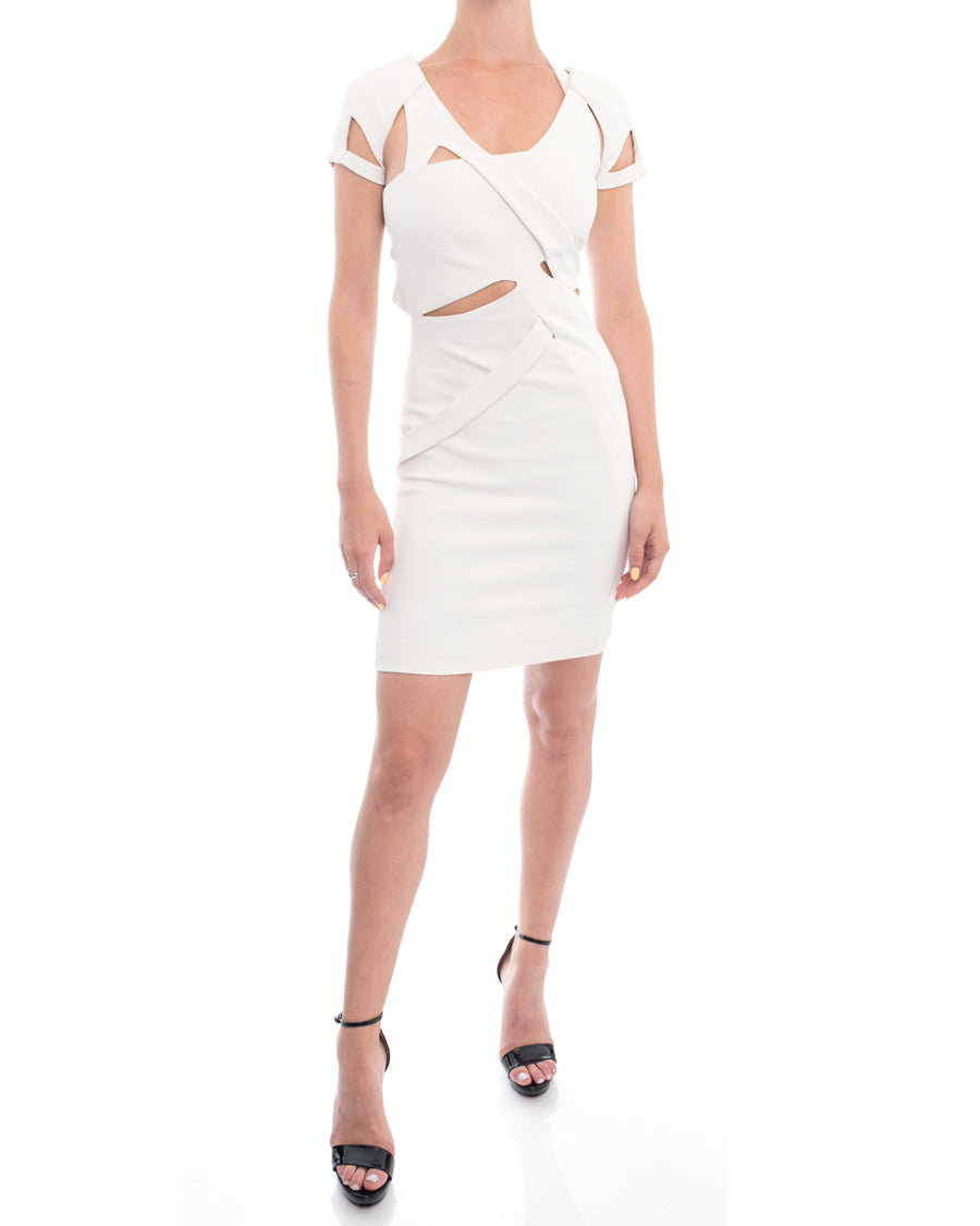 Gucci Spring 2010 Runway White Cut Out Fitted Dress - 2