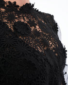 Self-Portrait Black Lace Long Sleeve Blouse - 10