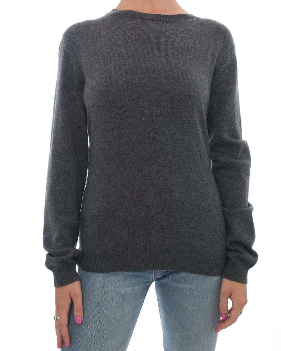 Valentino Rockstud Untitled Grey Cashmere Pullover Sweater - M