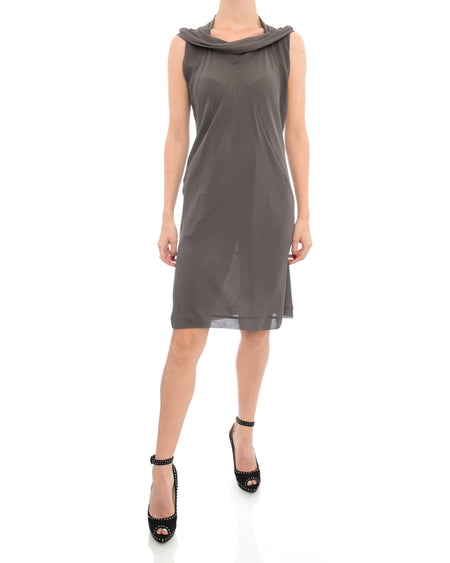 Rick Owens Release SS2010 Grey Short Bias Cut Dress - S