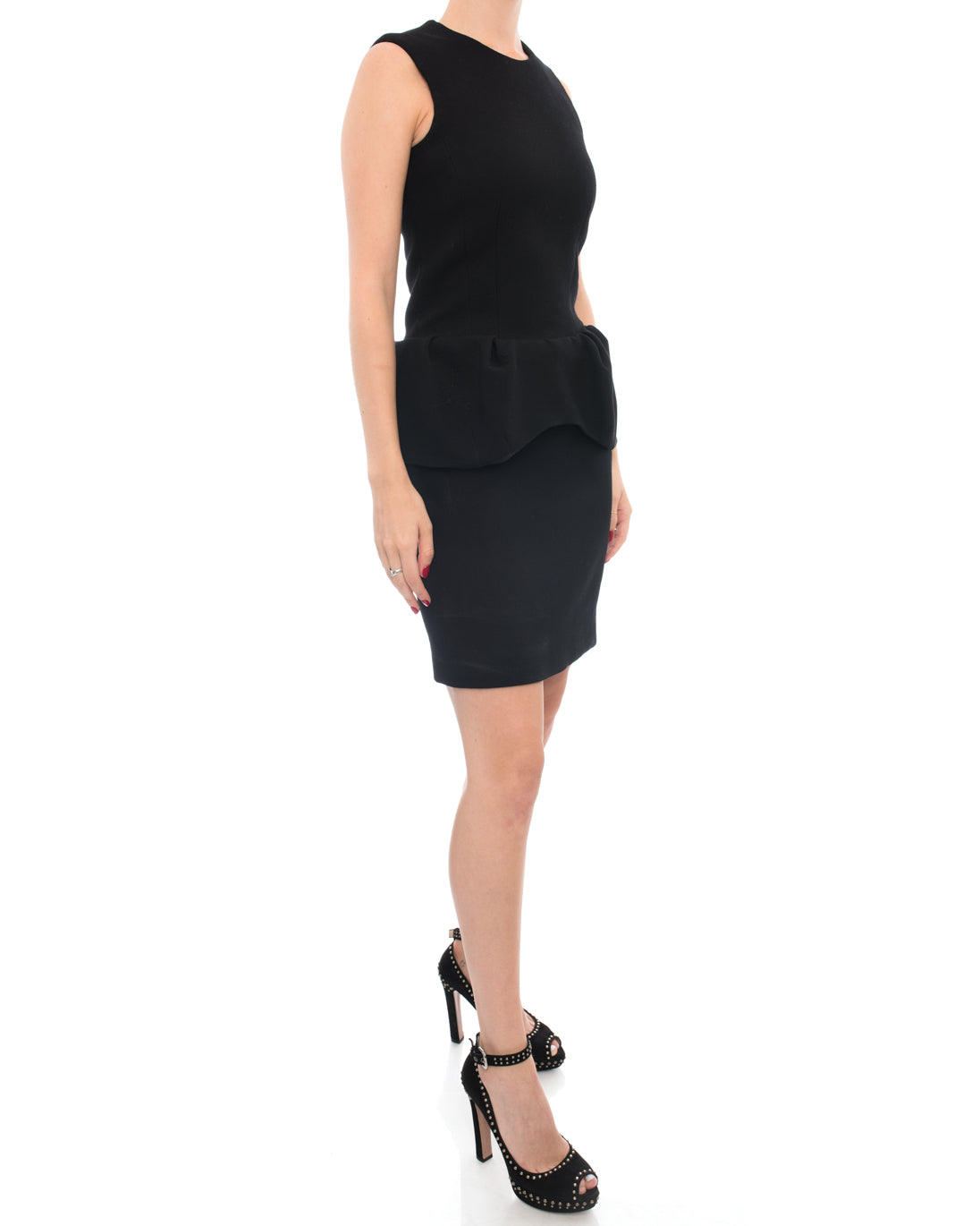 Marni Black Wool Sleeveless Peplum Dress - 2