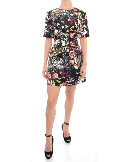 Alexander McQueen McQ Floral Photo Print Mini Dress - 2