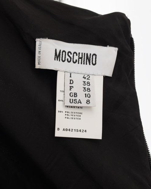 Moschino Black Sleeveless Dress with Safety Pins - 6