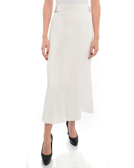 Proenza Schouler White Long Skirt with Grommets - 4