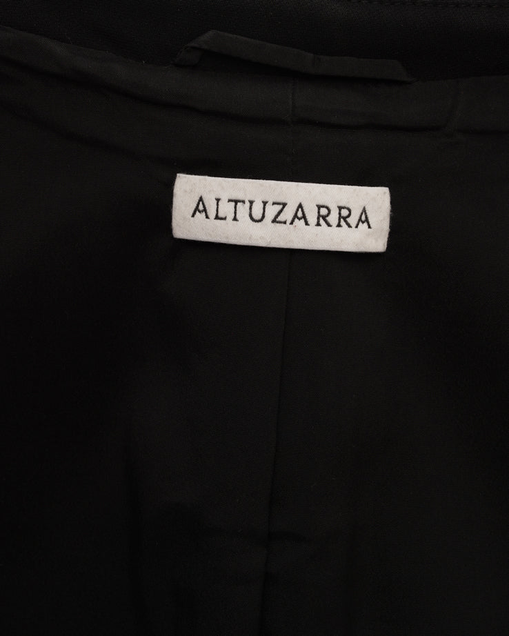 Altuzarra Ward Black Blazer with Gold Fox Buttons - 12