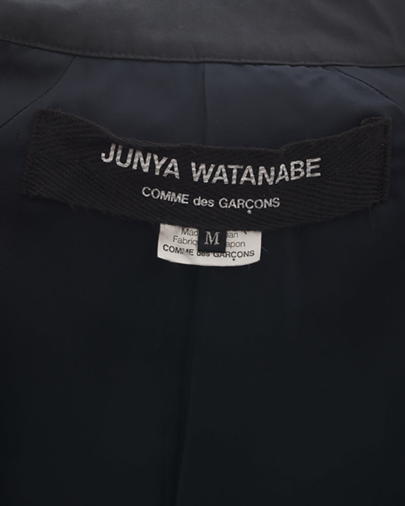 Junya Watanabe Comme des Garcons Navy Trench Coat Cape - 2