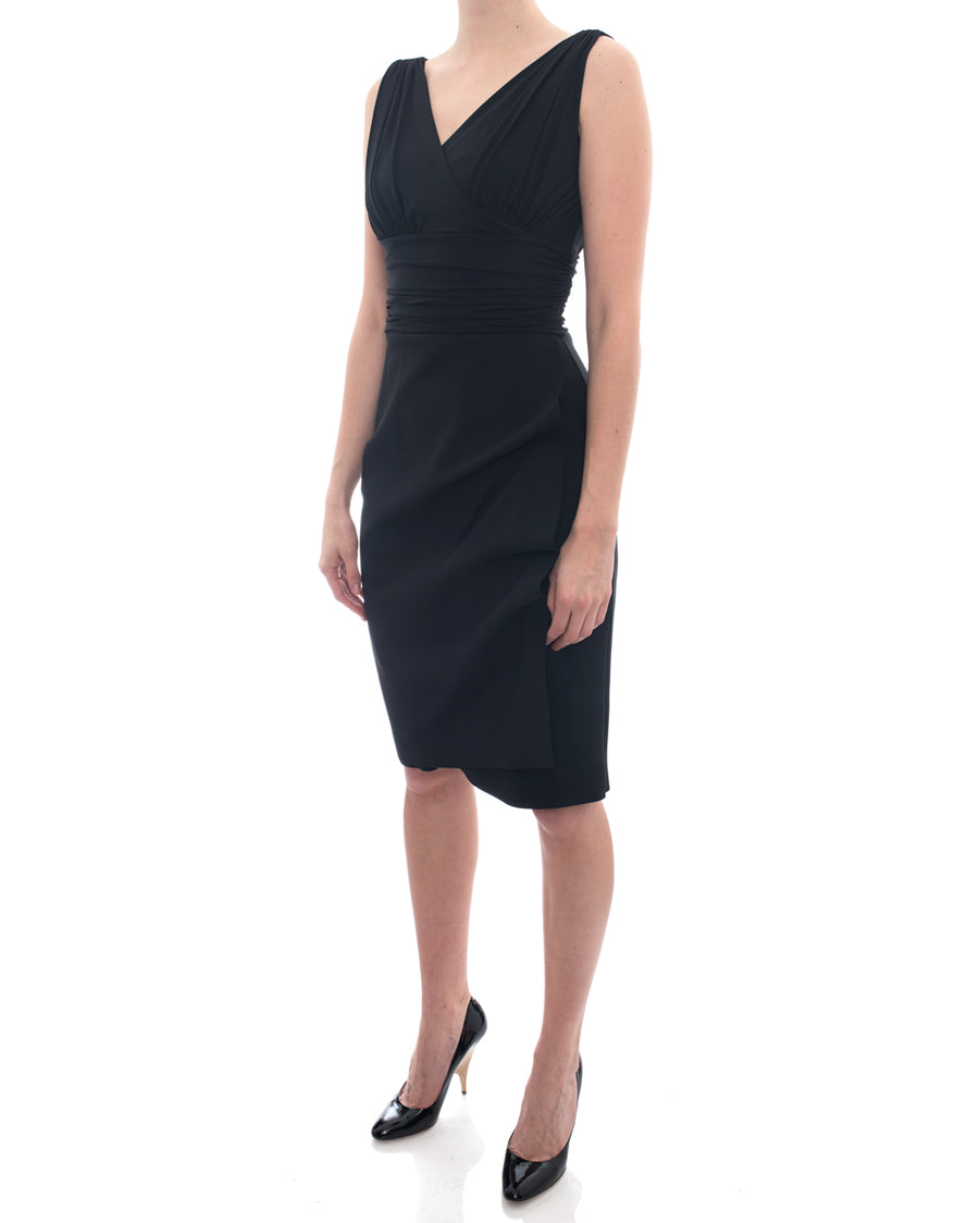 Chiara Boni La Petite Robe Black Bodycon Stretch Dress - 6