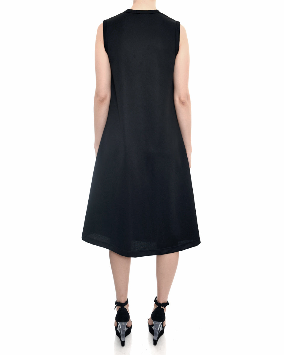 Comme des Garcons Black Jersey Sleeveless Tank Dress - 4/6