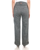 Moncler Black and Grey Salt and Pepper Wool Wide Leg Ski Pants - 6