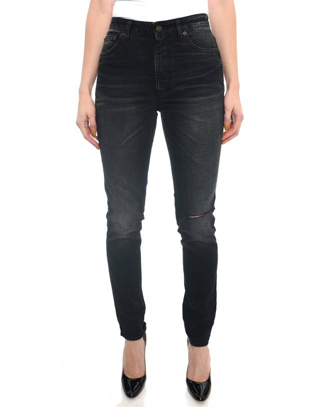 Saint Laurent Black Denim Skinny Jeans - 29