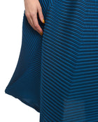 Issey Miyake Blue Polygon Pleat Architectural Avant Garde Skirt - S / M