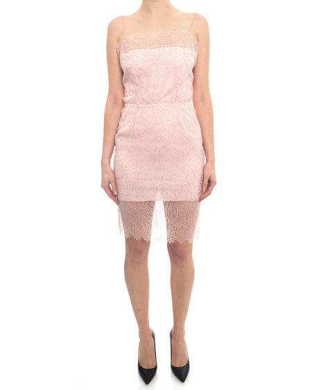 Chanel 2017 Spring Runway Light Pink Lace Strappy Slip Dress - 38