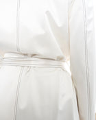 Chanel 01P Ivory Opera Length Day / Night Trench Coat - 40