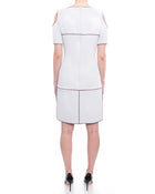 Chanel 14P Light Grey Cold Shoulder Runway Dress - 6