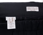 Brunello Cucinelli Charcoal Grey Cropped Trouser with Silver Bead Trim - S