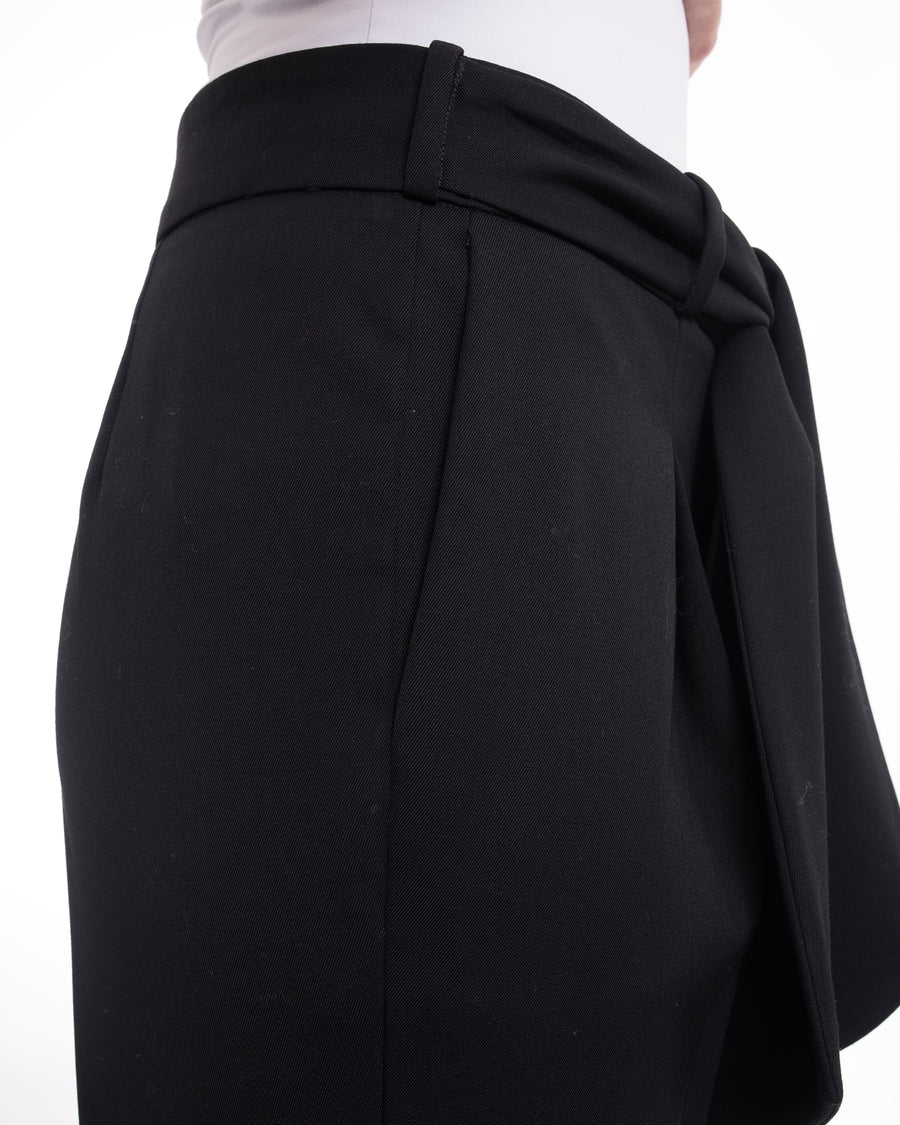 Lanvin Black Dress Trouser with Sash Belt - 6