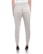 Brunello Cucinelli Beige and Gold Shimmer Jogging Pants - 6