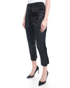 Haider Ackermann Black Satin Elastic Waist Cropped Pants - 6