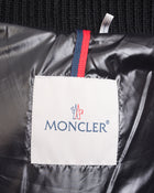 Moncler Black Fabric Quilted Hooded Goose Down Puffer Coat - 6