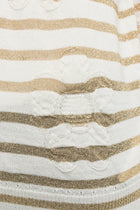 Tricot Comme des Garcons Gold and Ivory Striped Sweater Top - S