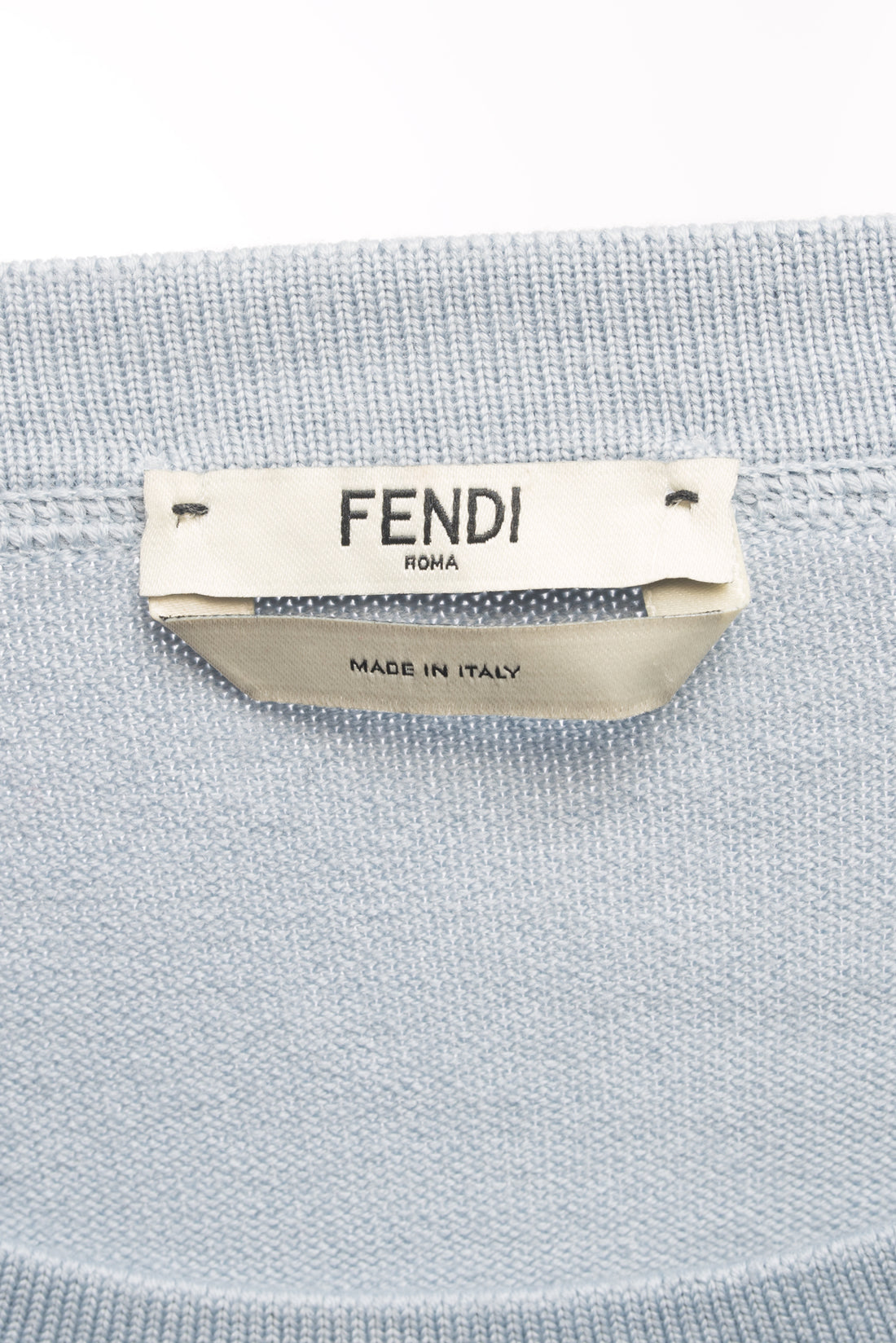Fendi Light Blue and Pink Knit Monster Bag Bug Fur Eyes Sweater - 6