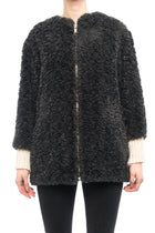 Isabel Marant Etoile Dark Grey Faux Fur Easy Abril Coat - 4