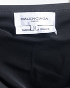 Balenciaga fall 2002 Nicolas Ghesquiere Black Strapless Ruffle Hem Mini Dress - 2
