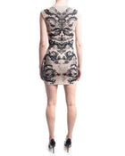 Alexander McQueen Blush Pink and Black Knit Intarsia Bodycon Dress