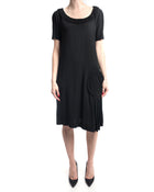 Viktor & Rolf Black Rayon Straight Cut Shift Dress - 8