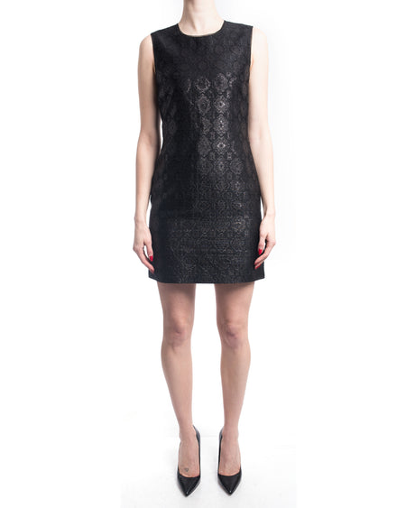 Prada Black Brocade Sleevless Wiggle Dress - 4